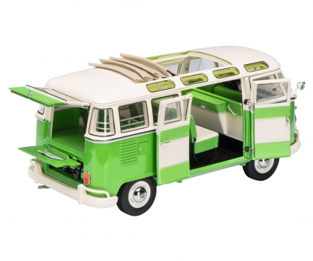 VW T1b Samba, green/white, 1:18