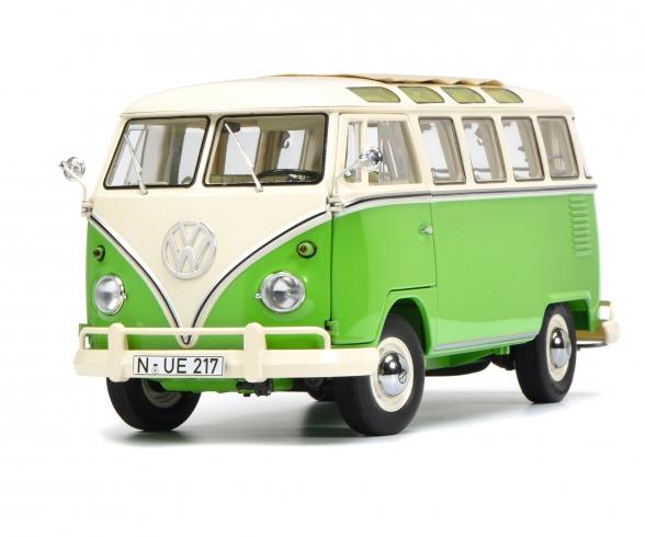VW T1b Samba, green/white, 1:18