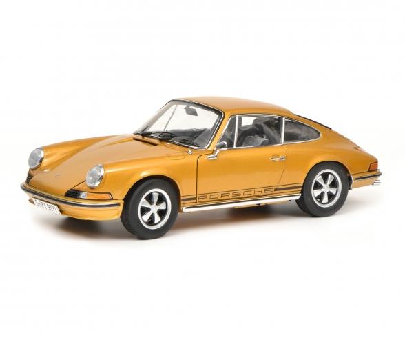 Porsche 911 S Coupé 1973, gold metallic, 1:18