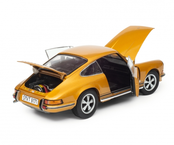 Porsche 911 S Coupé 1973, gold metallic, 1:18