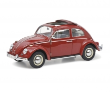 "VW Käfer Faltdach ""1963"", red, 1:18"