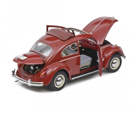 "VW Käfer Faltdach ""1963"", red, 1:18"
