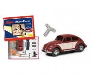 "Micro Racer ""VW Käfer"" Montagekasten, dunkelrot-beige"