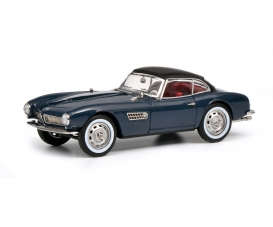 BMW 507 with Hardtop, grey blue black, 1:43
