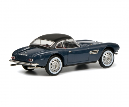 BMW 507 mit Hardtop, graublau-schwarz, 1:43