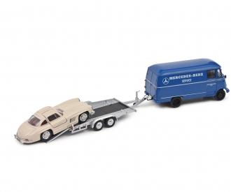 MB L319 w.trailer+300SL 1:43