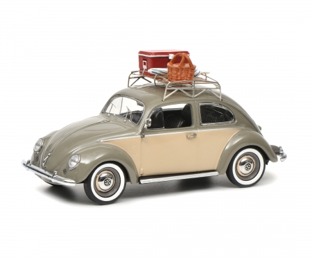"VW Käfer Ovali ""Picknick"", grey beige, 1:43"