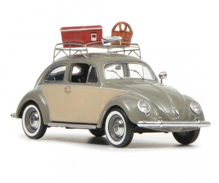 "VW Käfer Ovali ""Picknick"", grau-beige, 1:43"