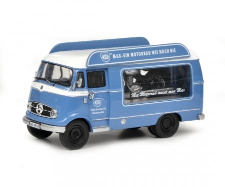 """Mercedes-Benz L319 Werbewagen """"NSU-Max"""" mit Piccolo NSU-Max, 1:43"""