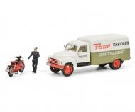 "Hanomag L28 ""Kreidler"" mit Kreidler Florett und Fahrerfigur, 1:43"