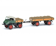 Unimog U 401 with trailer and potatoes 1:43