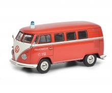 VW T1 bus fire brigade 1:43