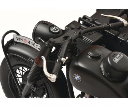 """BMW R75 mit Beiwagen """"Wehrmacht"""", grey, 1:10"""