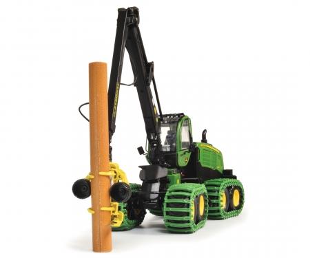 John Deere Harvester 1270G 8W mit Baumstamm, 1:32