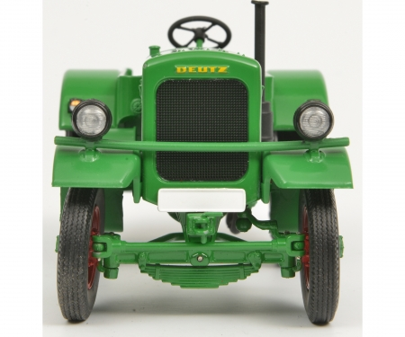 Deutz F3 with hay tailer, green, 1:32