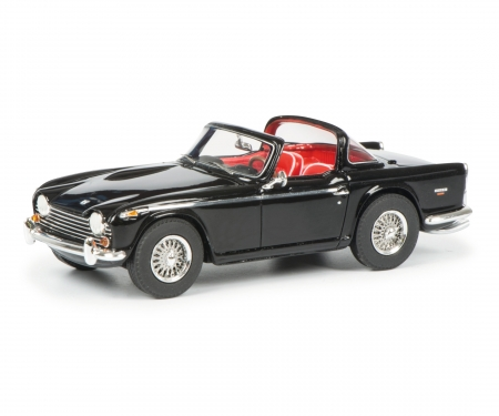 Triumph TR5 with open surrey top, black red, 1:43