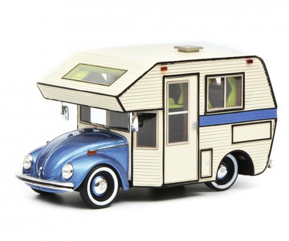 VW Beetle Motorhome,blue 1:43