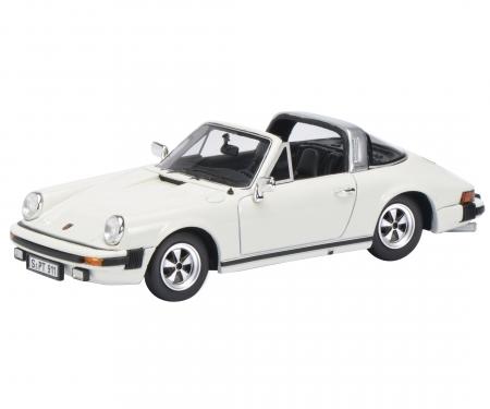 Porsche 911 Targa, grandprix white 1:43