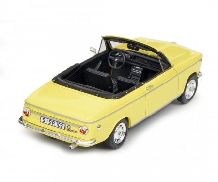 BMW 2002 Cabrio 2/2 (Baur), yellow, 1:43