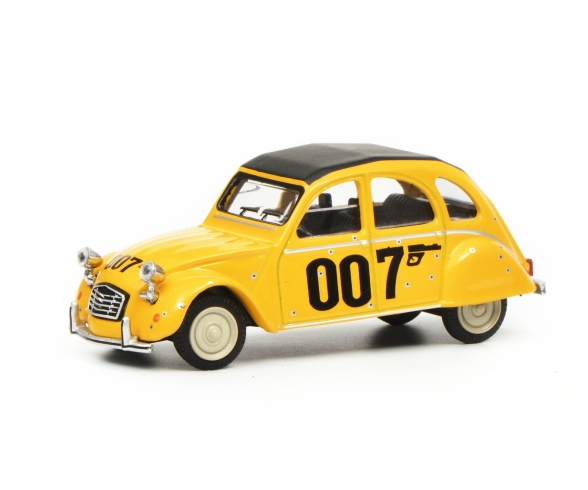 Citroen 2CV 007, yellow 1:64
