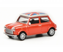 "Mini Cooper ""Union Jack"", red white, 1:64"