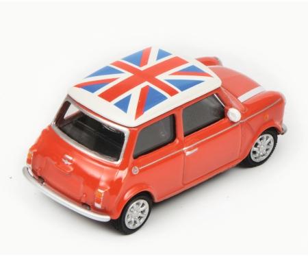 """Mini Cooper """"Union Jack"""", red white, 1:64"""