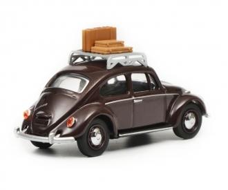 """VW Beetle """"Reisezeit"""", dark red, 1:64"""