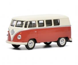 VW T1 bus, red/beige 1:64