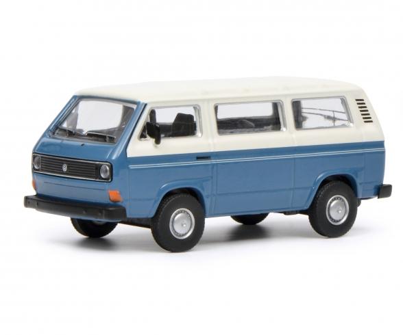 VW T3 Bus, blau weiß, 1:64
