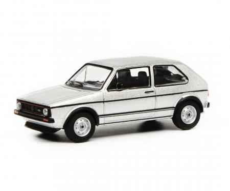 VW Golf I GTI, silber, 1:64