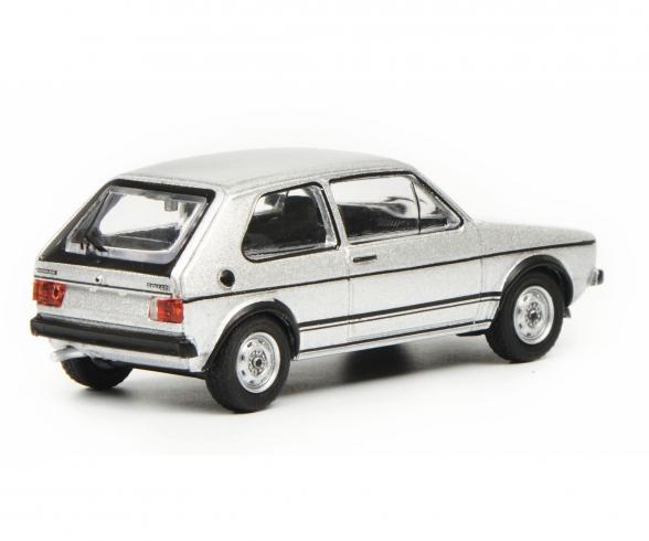 VW Golf I GTI, silver, 1:64