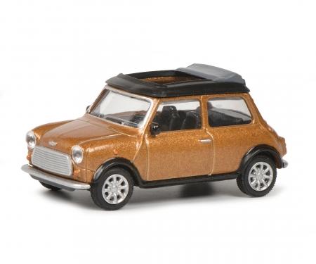 Mini Cooper braun met.1:64