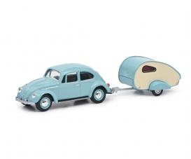 VW Beetle with caravan 1:64