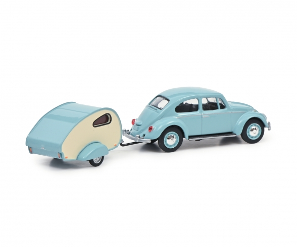 VW Beetle with caravan 1:64
