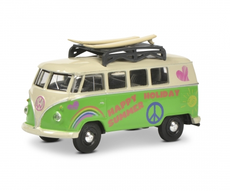 dunkelgrün Schuco 452015400 VW T1 Bus Polizei 1:64 weiß Maßstab