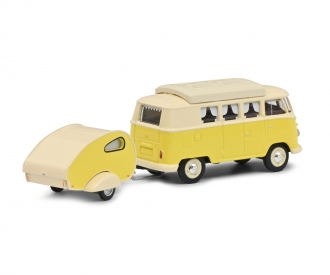 VW T1 Camper w.caravan 1:64