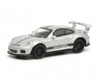 Porsche 911 GT3 RS, silber, 1:87