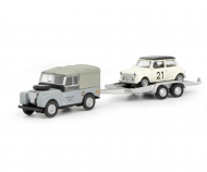 Land Rover I with trailer and Mini, 1:87