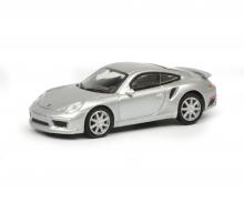 Porsche 911 Turbo S (991), silber, 1:87