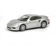 Porsche 911 Turbo S (991), silver, 1:87