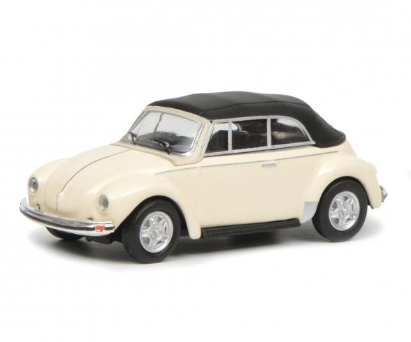 VW Käfer Cabrio mit Verdeck, weiß, 1:87