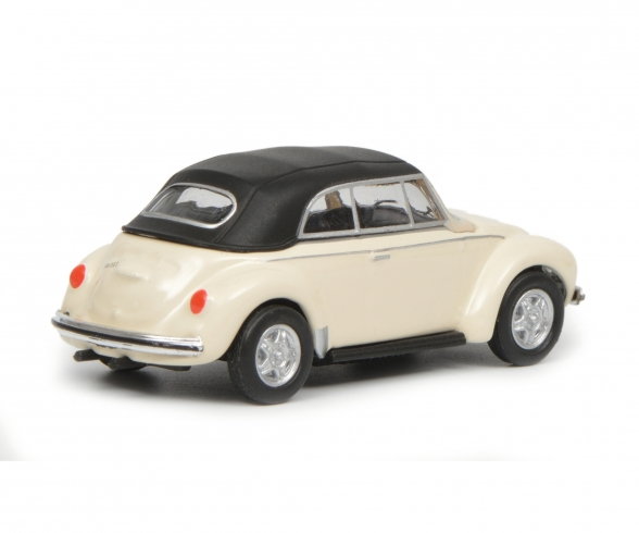 VW Beetle Cabrio with roof, white, 1:87
