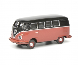VW T1c Bus, black-red 1:87