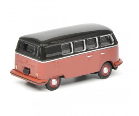 VW T1c Bus, schwarz-rot, 1:87