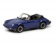 Porsche 911 Carrera 3.2 Cabriolet, blau, 1:87