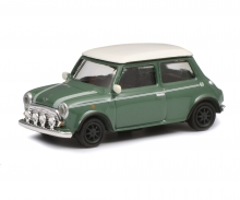 Mini Cooper, grün weiß, 1:87
