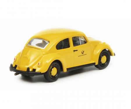 """VW Käfer """"Deutsche Bundespost"""", gelb schwarz, 1:87"""