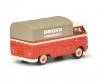 "VW T1b pick-up with tarpaulin ""Deutz Service"", red, 1:87"