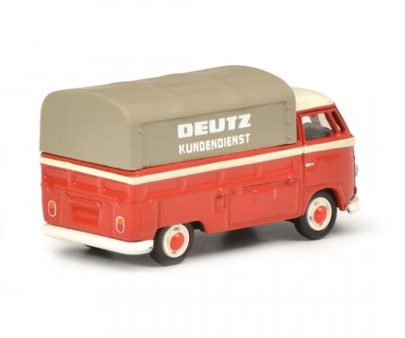 """VW T1b Pritsche-Plane """"Deutz Service"""", rot, 1:87"""