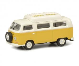 VW T2a camper,yellow/white 1:87